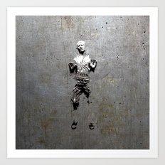 Han Solo Carbonite Art Print