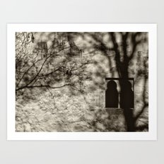 Mistery window. Infantas tower. Alhambra. Spain Art Print