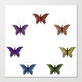 Rainbow Butterflies Canvas Print