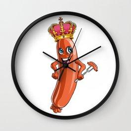 Sausage King Party Yummy Oktoberfest German Wall Clock