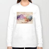 las vegas Long Sleeve T-shirts featuring Las Vegas skyline art by jbjart