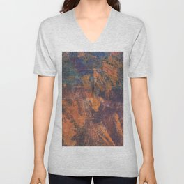 Fluorite Canyon Unisex V-Neck