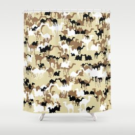 CAMELFLAGE - Desert Storm Sand Shower Curtain