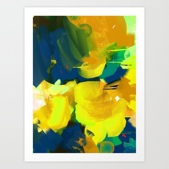 Summer #Abstract #Flowers Art Print
