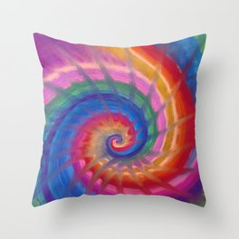 Spring into action with colour spirals Throw Pillow