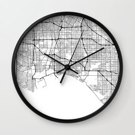Minimal City Maps - Map Of Long Beach, California, United States Wall Clock