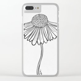 """Daisy"" Clear iPhone Case"