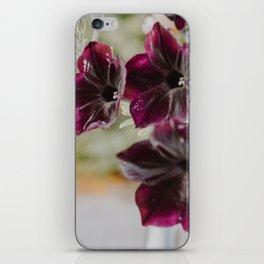 Purple Garden Flowers iPhone Skin