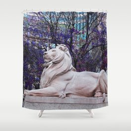 Patience in Violet Shower Curtain