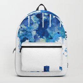 Grand Rapids Michigan Skyline Blue Backpack