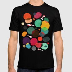Lotus in koi pond X-LARGE Black Mens Fitted Tee