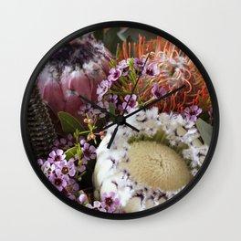 Protea arrangement Wall Clock