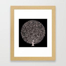 Black and White Tree Framed Art Print