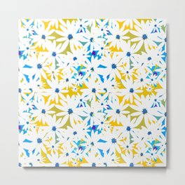 Lovely White Daisy Flowers Summer Meadow Mood #decor #society6 #buyart Metal Print
