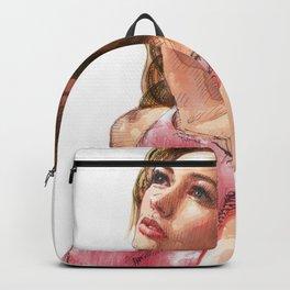 Aquarelle pin-up girl Backpack