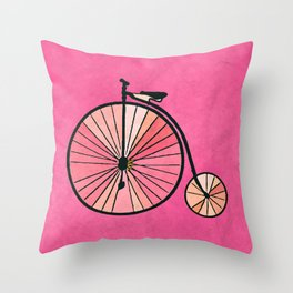 Old bicycle Throw Pillow