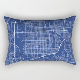 Sioux Falls Map, USA - Blue Rectangular Pillow