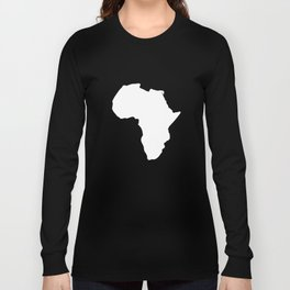 White Africa Map Long Sleeve T-shirt