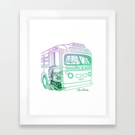 Rosa Parks, Courageous Woman Framed Art Print