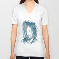 daryl dixon V-neck T-shirts featuring DARYL DIXON by Chadlonius