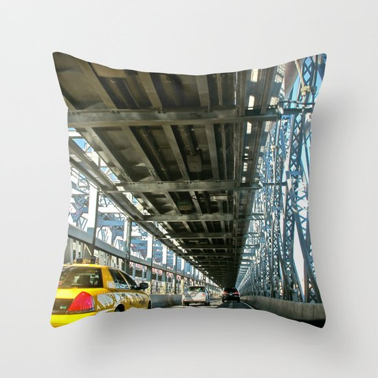 Washington Bridge, NYC Throw Pillow