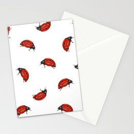 Ladybug Pattern Stationery Cards