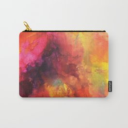 Abstract melted wax crayons on canvas Carry-All Pouch