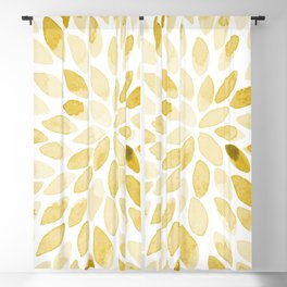 Watercolor brush strokes - yellow Blackout Curtain
