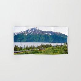 Alaska Passenger Train - Bird Point Hand & Bath Towel