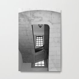 The misunderstood half of a window | Number 9 | Black and white Architecture Photography Metal Print