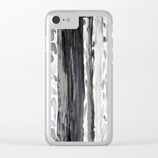Rainbow Eucalyptus Graffiti artist tree from shedding bark South Pacific Black and White Night Clear iPhone Case