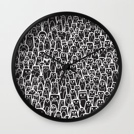 Pingu Ville Black Version Wall Clock