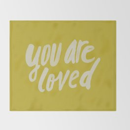 You Are Loved x Mustard Throw Blanket