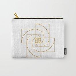 Golden Pinwheel Carry-All Pouch