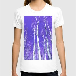 White Trees Intense Blue Sky In February T-shirt
