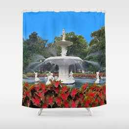 Under the Oak Trees at Forsyth Park Shower Curtain