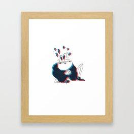 please Framed Art Print