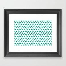 rhombus bomb in emerald Framed Art Print