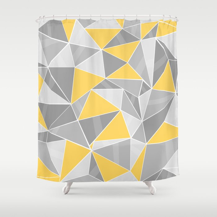 Pattern, grey - yellow Shower Curtain by lindella | Society6