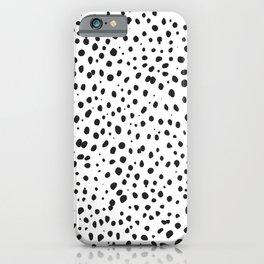 Dalmatian Spots - Black and White Polka Dots iPhone Case