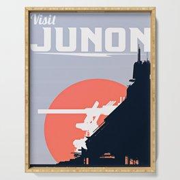 Final Fantasy VII - Visit Junon Propaganda Poster Serving Tray