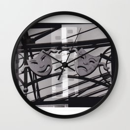 Tragedy and Comedy Masks of The Gaiety Wall Clock