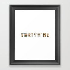 Theiyr're Framed Art Print