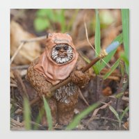 ewok Canvas Prints featuring Ewok by iFallForward