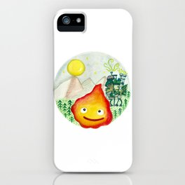 Howl's Moving Castle - Calcifer iPhone Case