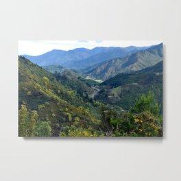 Between the mountains Metal Print