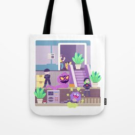 Tiny Worlds - Rocket HQ Tote Bag