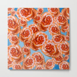 Salmon Rose Metal Print