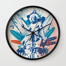 Poseidon surfer  Wall Clock