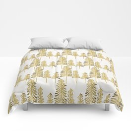Pine Trees – Gold Palette Comforters